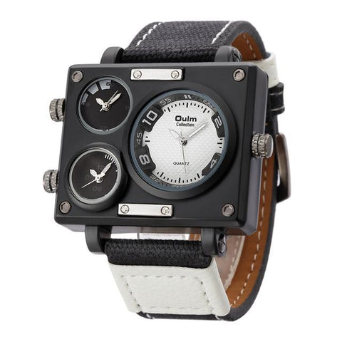 Image of Big Square Multiple Different Time Zones Watch