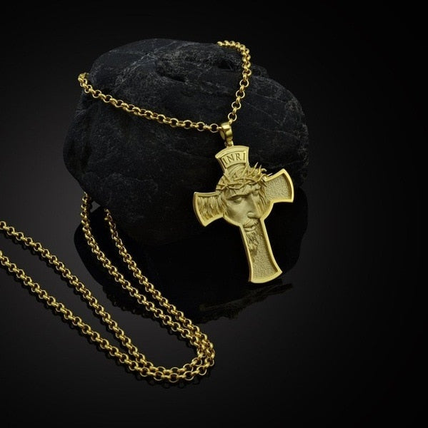 Alloy Jesus Cross Men's Christian Pendant