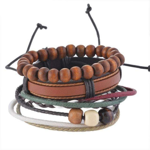 Image of Multilayer Braided Leather Bracelet - [12 Variants]