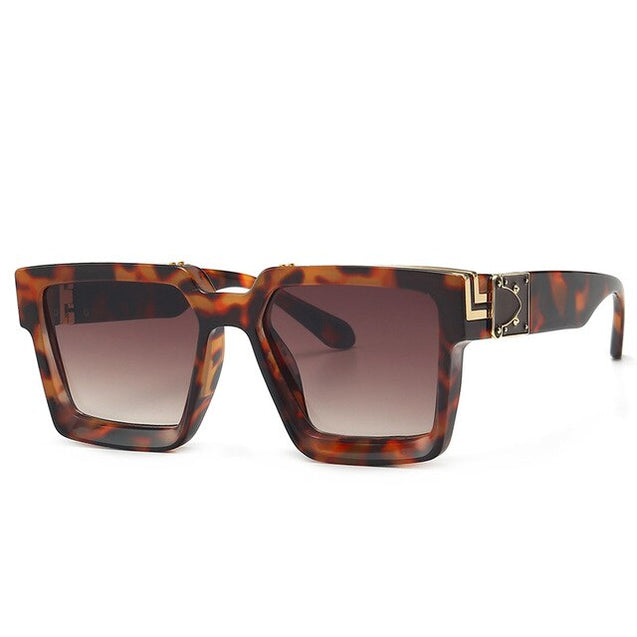 Luxury Sunglasses Men Thickened Frame Oversized Sunglasses