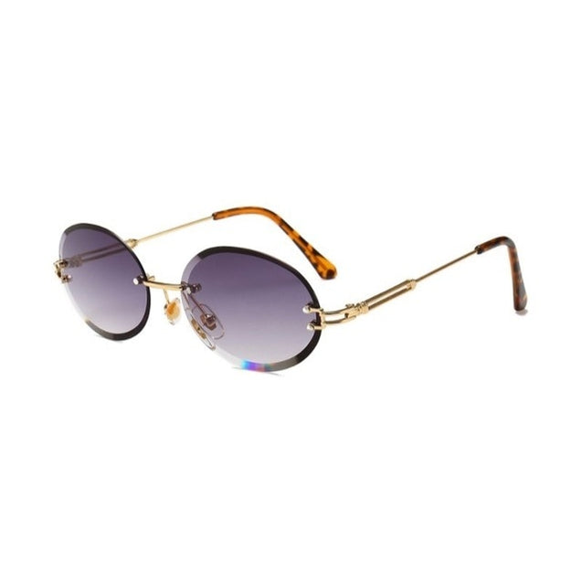 Rimless Oval Men Sunglasses