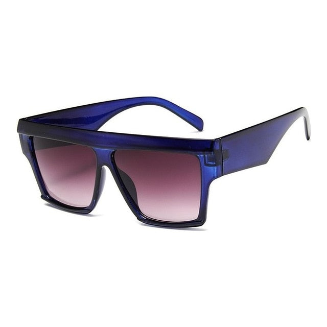 Oversize Square Flat Top Men's Sunglasses