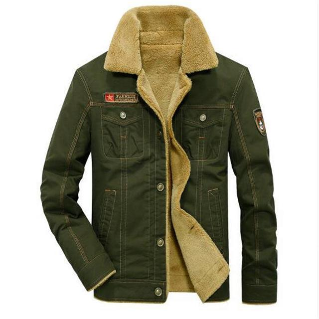 Men's Fur Collar Winter Jackets Military style