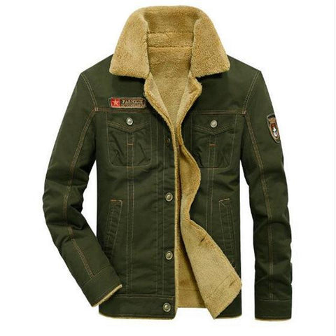 Image of Men's Fur Collar Winter Jackets Military style