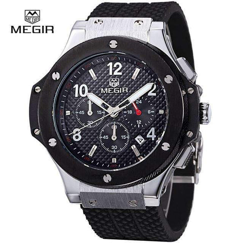 Image of Megir Mens Chronograph Military Sport Silicone Watch [ 8 Variation ]
