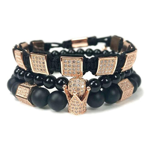 Image of King Crown Bracelet Set