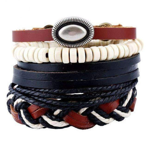 Image of Unisex Leather Bracelet Set