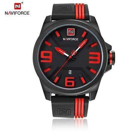Rubber Band Military Style  Wristwatch
