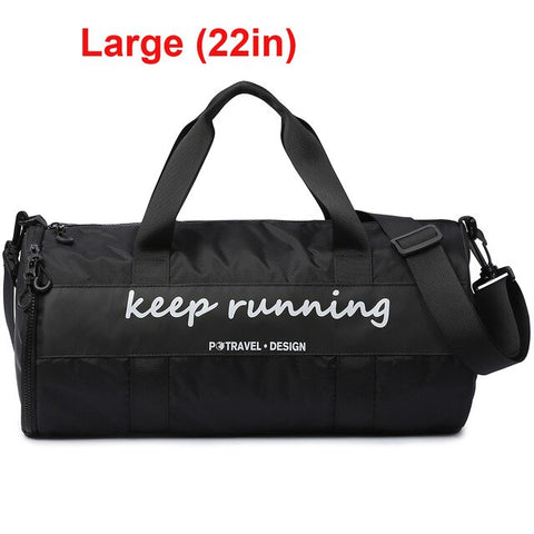 Image of Outdoor Sports Camping Dry Wet Separated Gym Duffle bag