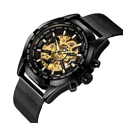 Image of Automatic Skeleton Watch With Stainless Steel Band