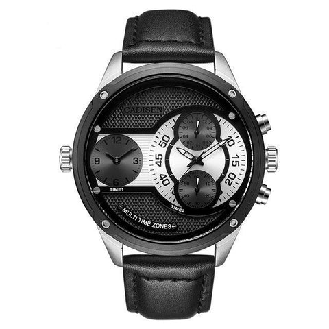 Image of Dual Time Zone Mens Casual Watch