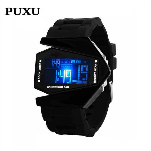 Rocket Shape LED Digital Watch [ 14 Variation ]