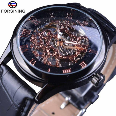 Image of Mechanical Wristwatches With Leather Strap