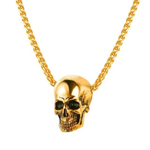 Image of Mens Skull Necklace [ 3 Colors ]
