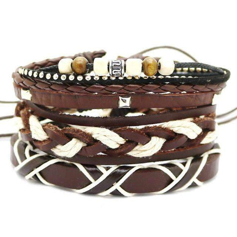 Image of real leather bracelet