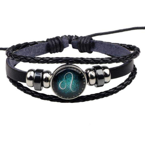 Image of Zodiac Signs Leather Bracelets
