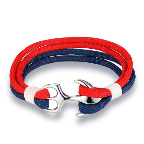 Image of Anchor Bracelet With Steel Buckle