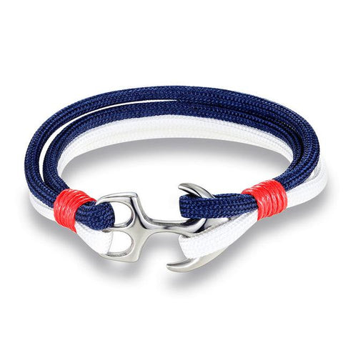Anchor Bracelet With Steel Buckle
