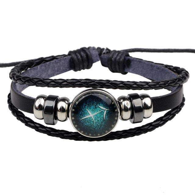 leather zodiac bracelet