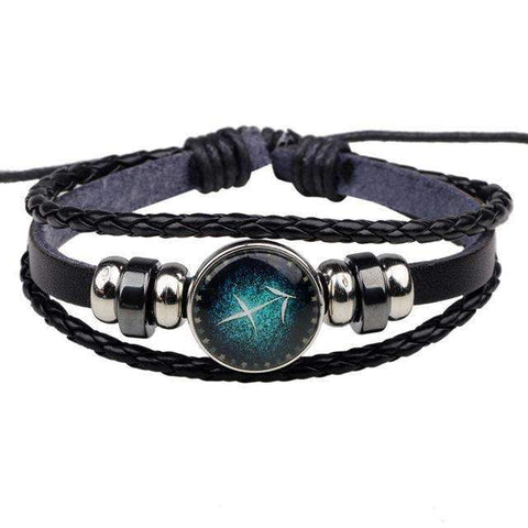 Image of leather zodiac bracelet