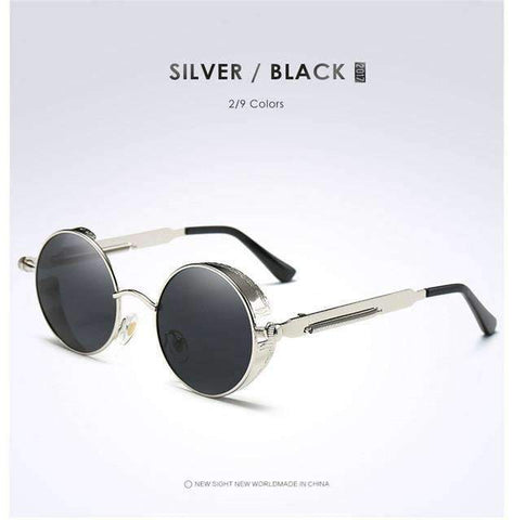 Round Polarized Unisex Sunglasses  With Side Shield [ 10 Variation ]