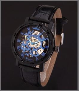 Image of Mechanical Wristwatches With Leather Band
