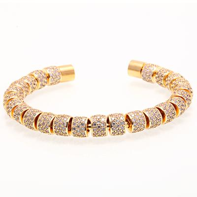 Iced Out  Bangle Cuff Bracelet