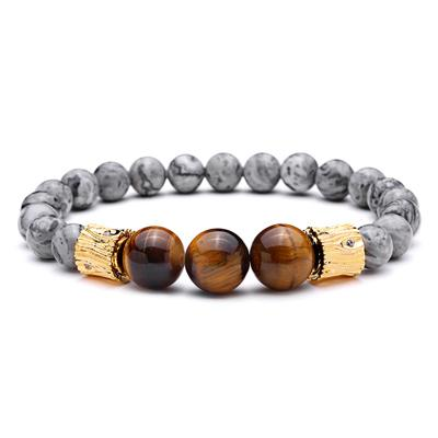 Beaded Stone Bracelet With tiger Eye Beads