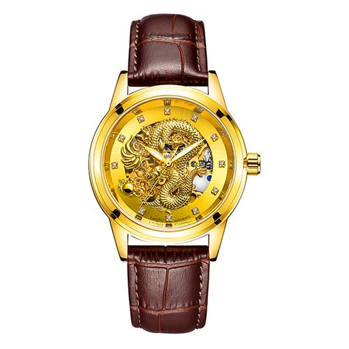 Dragon Carved Face Mechanical Watch