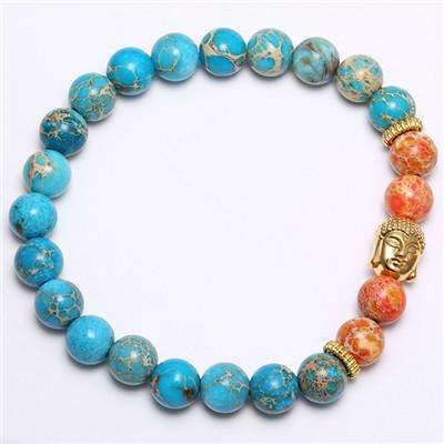 Image of Genuine Emperor Stone Beaded Buddha head Bracelet