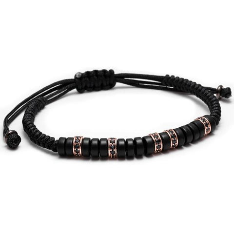 Image of Black Coconut Shell Beaded Bracelet