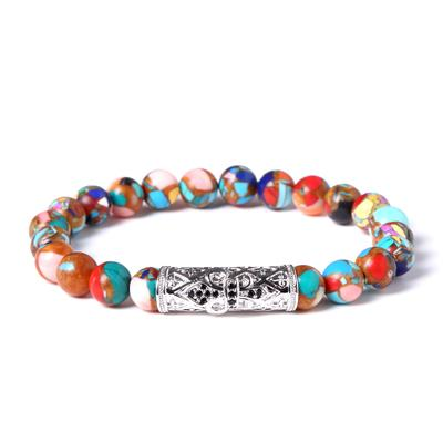 Image of Colorful Emperor stone Beaded Bracelet