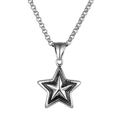 Titanium  Star Pendant Necklace