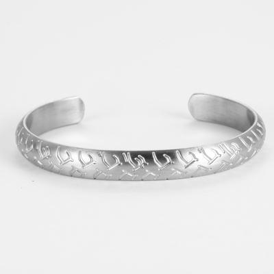 Image of Retro Engraved Mens Cuff Bracelets