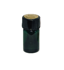 Small inexpensive refill bottle or vial or sample bottle for natural perfume or essential oil perfume.