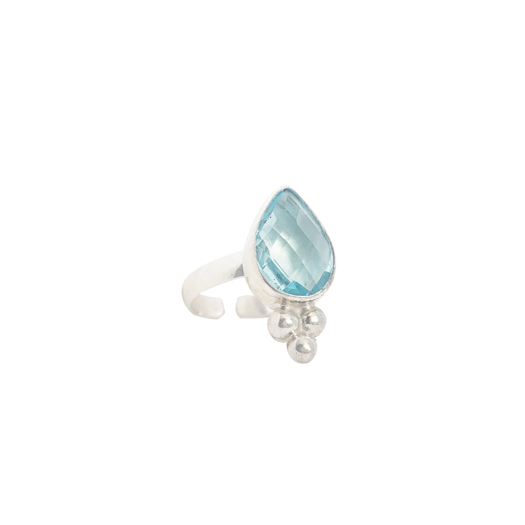 Bacchus Ring | Blue Agate