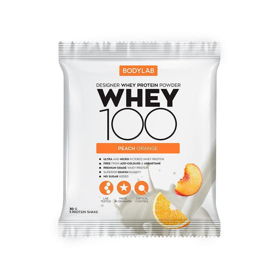 Bodylab Whey Concentrate Peach & Orange Bodylab Whey 100 paciņā (30 g)