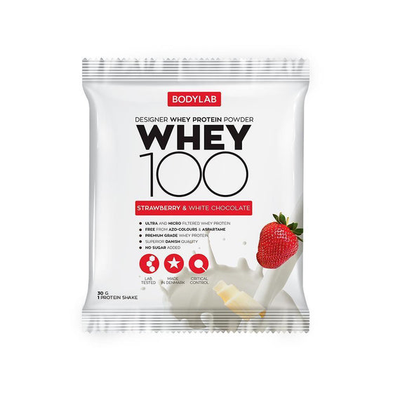 Bodylab Whey Concentrate Strawberry White Chocolate Bodylab Whey 100 paciņā (30 g)