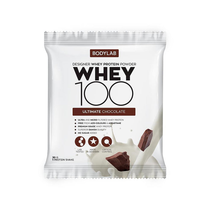 Bodylab Whey Concentrate Ultimate Chocolate Bodylab Whey 100 paciņā (30 g)