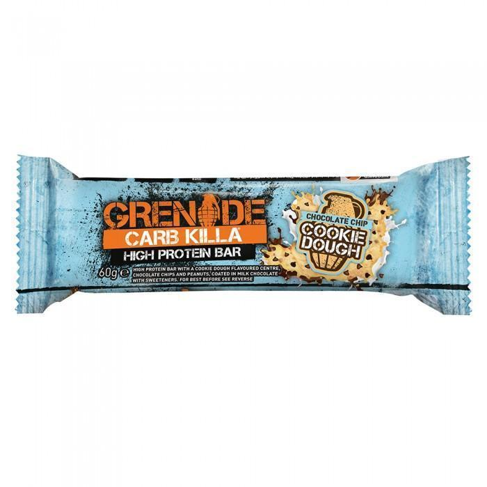 Grenade Protein Bar Chocolate Chip Cookie Dough Grenade CARB KILLA® Proteīna batoniņš (60 g)