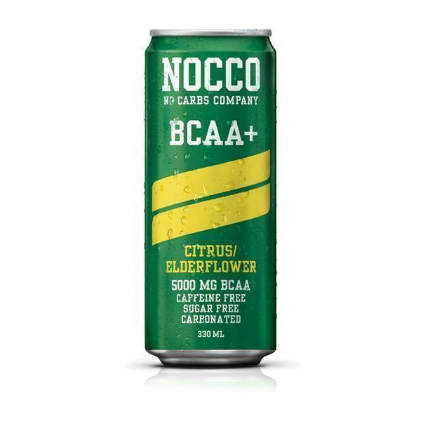 Nocco Energy Drink Citrus/Elderflower (bez kofeīna) Nocco BCAA dzēriens (330 ml)
