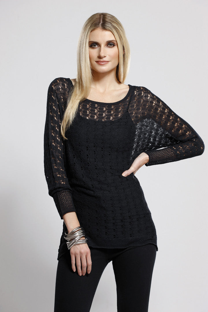 Long Sleeve Knit Top Black