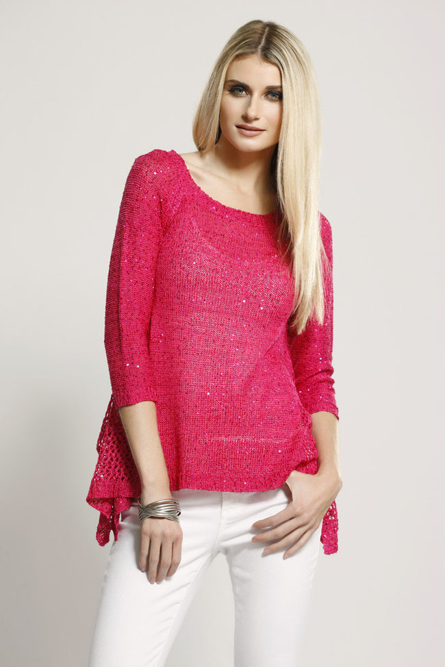 Sequin Embellished Top Hot Pink, Dolce Cabo