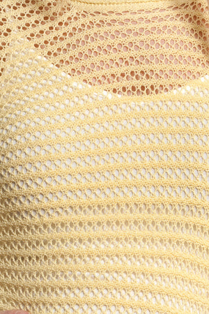 Soft Cable Knit Top Banana, Dolce Cabo