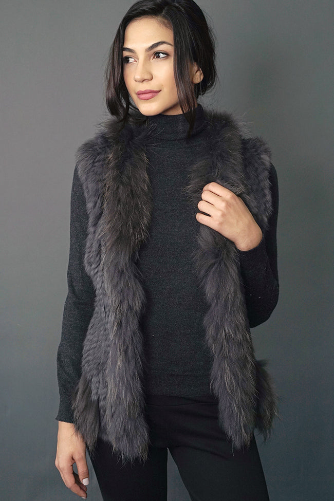 Lush Rabbit + Raccoon Fur Vest