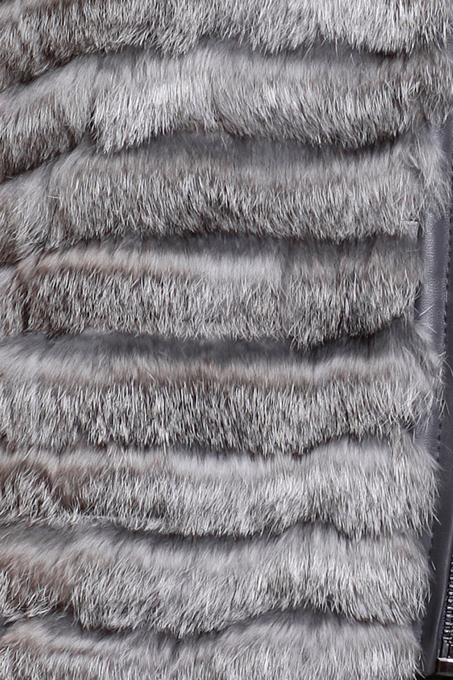 Rabbit Fur Zip Vest