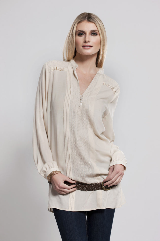Long Sleeve Tunic Beige, Dolce Cabo