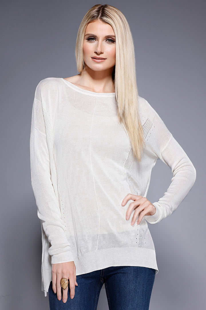 Knitted Long Sleeve Top Ivory, Dolce Cabo