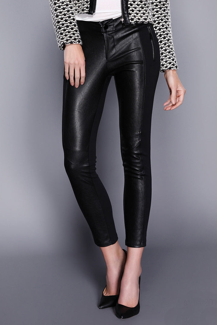 Vegan Leather Pants Black