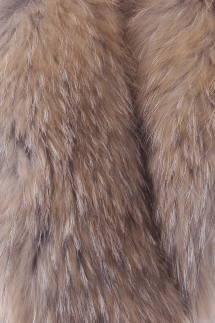 Real Fur Scarf, Chestnut, Stole, Dolce Cabo